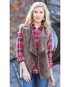 Wrangler Women's Fleece Faux Fur Vest