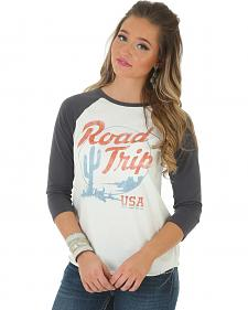 "Wrangler Women's ""Road Trip"" 3/4 Sleeve Baseball T-Shirt"