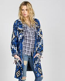 MM Vintage by Miss Me Women's Blue Crush Cardigan