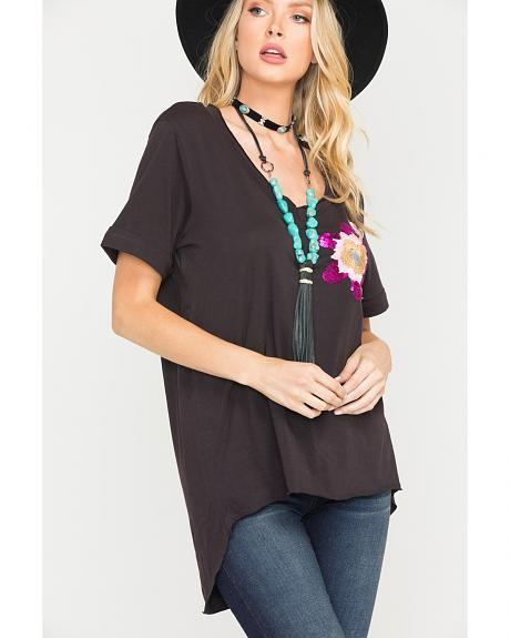 MM Vintage by Miss Me Abstract Beauty Top