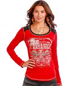 Panhandle Slim Women's Red Thunderbird Guitar T-Shirt