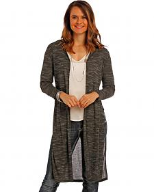 Panhandle Slim Women's Charcoal Venise Lace Cardigan