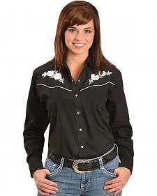 Ely Embroidered Roses Western Shirt