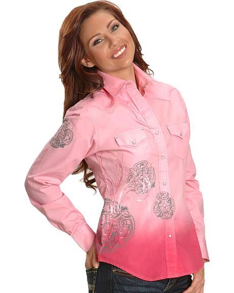 Resistol Tie Dye Fleur-De-Lis Western Shirt