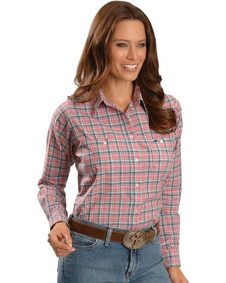 Wrangler Pink Plaid Shirt