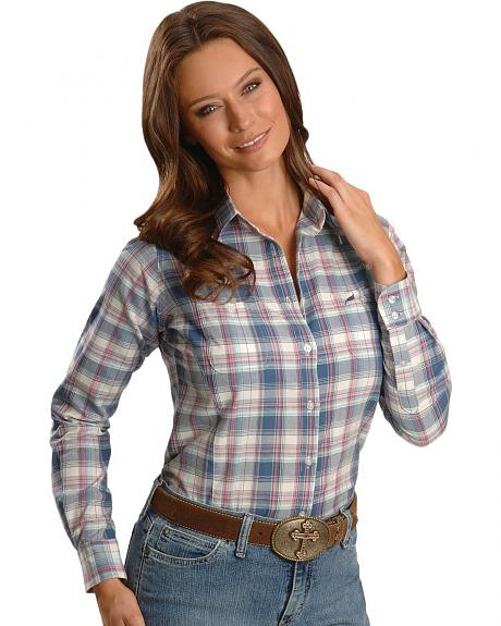 Wrangler Blue Plaid Shirt