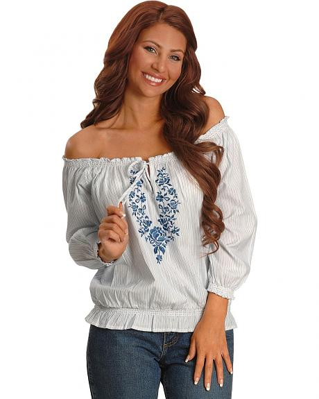 Panhandle Slim Off Shoulder Peasant Top