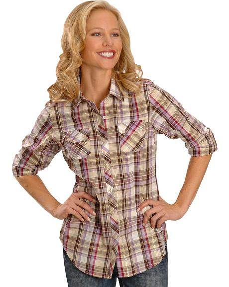Ariat Cate Lurex Multi Plaid Western Shirt