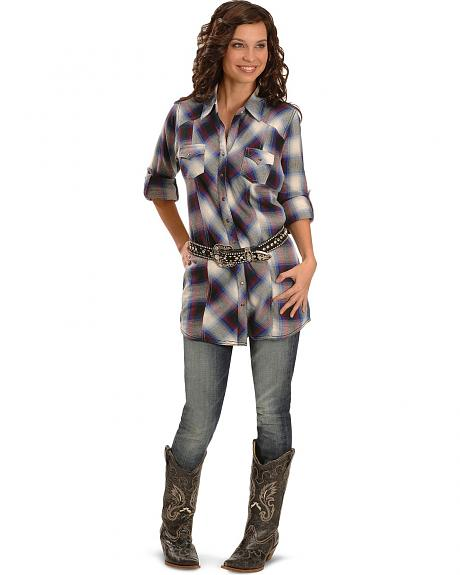 Wrangler Rock 47 Plaid Western Tunic