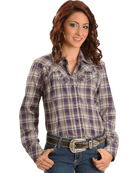Exclusive Gibson Trading Co. Purple Plaid Western Shirt