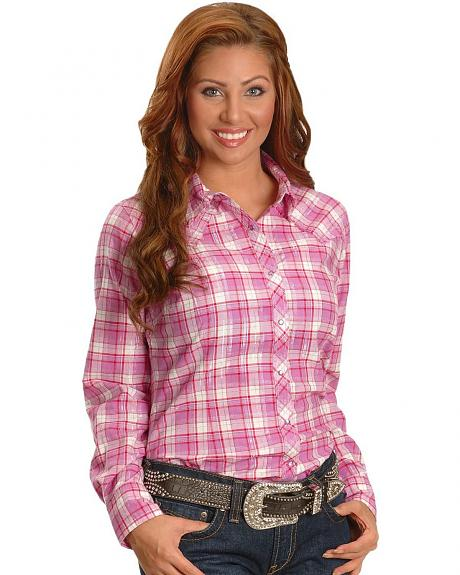 Ariat Autumn Berry Plaid Western Shirt