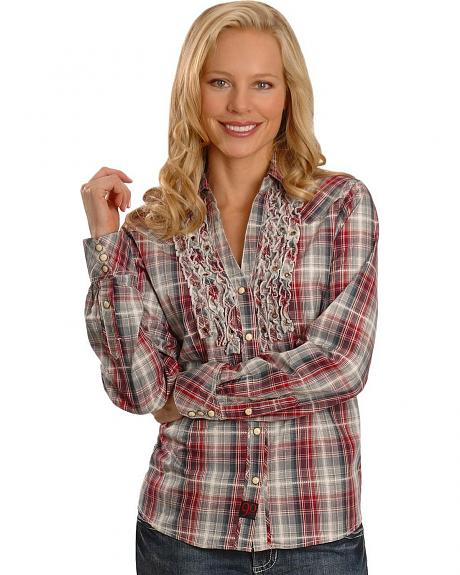 90 Proof by Panhandle Slim Plaid Embellished Western Shirt