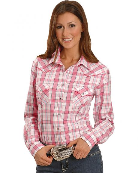 Panhandle Slim Rough Stock Plaid Western Shirt