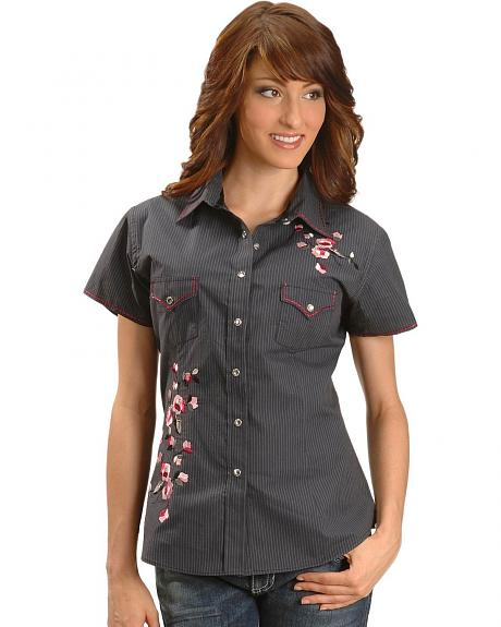 Panhandle Slim Rough Stock Embroidered Western Shirt