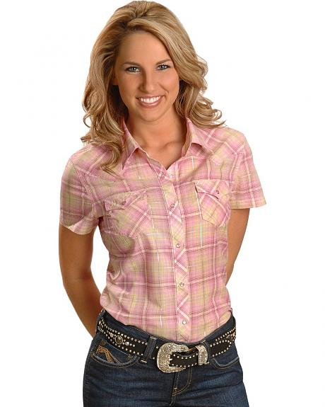 Ariat Lena Plaid Western Top