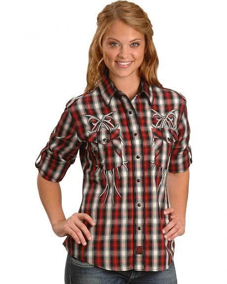 Panhandle Slim Tribal Embroidery Western Shirt