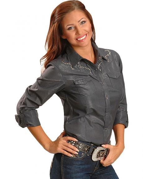 Ariat Lyrinn Shadow Long Sleeve Western Top