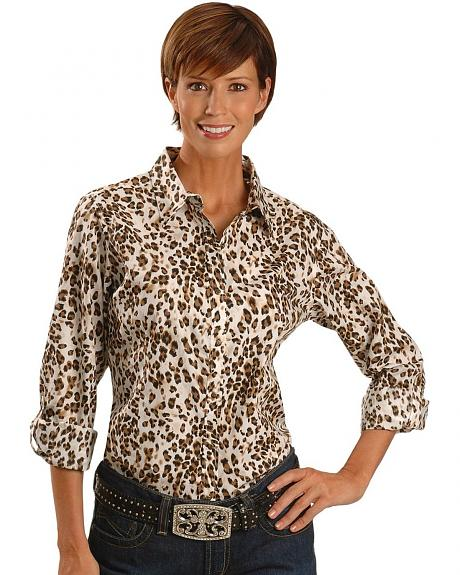 Ariat Leopard Print Long Sleeve Top