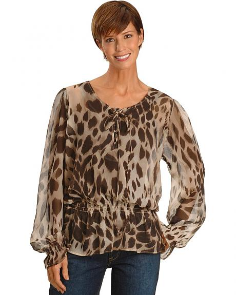 Ariat Leopard Print Long Sleeve Tunic