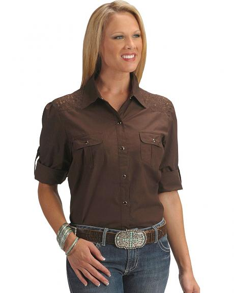 Red Ranch Lace Yoke Western Shirt