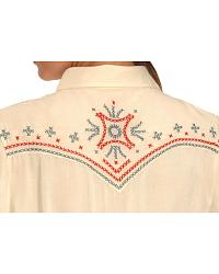 Wrangler Contrasting Embroidery Western Long Sleeve Shirt at Sheplers