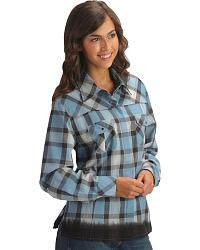 Red Ranch Hidden Placket Plaid Western Shirt at Sheplers