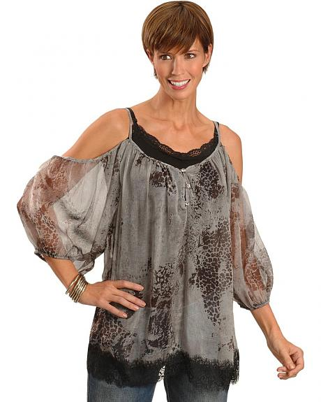 Panhandle Slim Peasant Style Lace Top