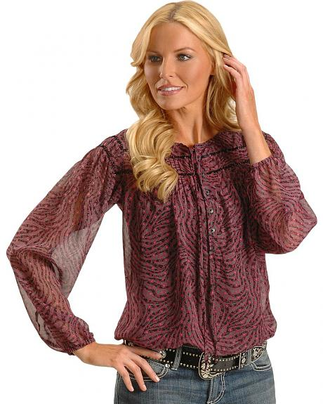 Wrangler Rock 47 Beaded Chiffon Blouse