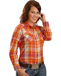 Exclusive Gibson Trading Co. Plaid Western Top at Sheplers