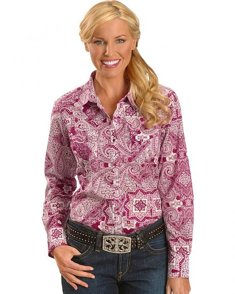 Ariat Bandana Paisley Print Long Sleeve Top