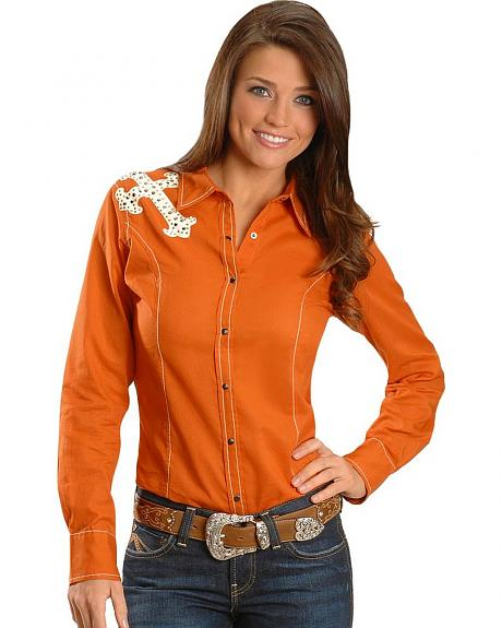 Ariat Bretta Suede Applique Western Shirt
