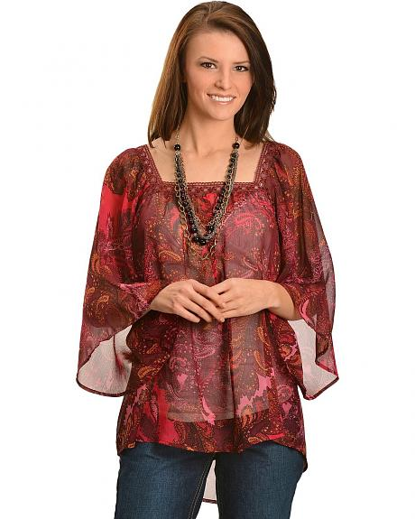 Ariat Libby Peasant Style Chiffon Top