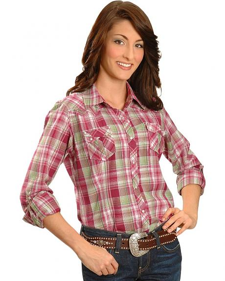 Ariat Inger Lurex Plaid Western Shirt