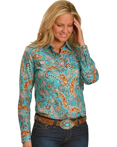 Ariat Susie Paisley Print Long Sleeve Top