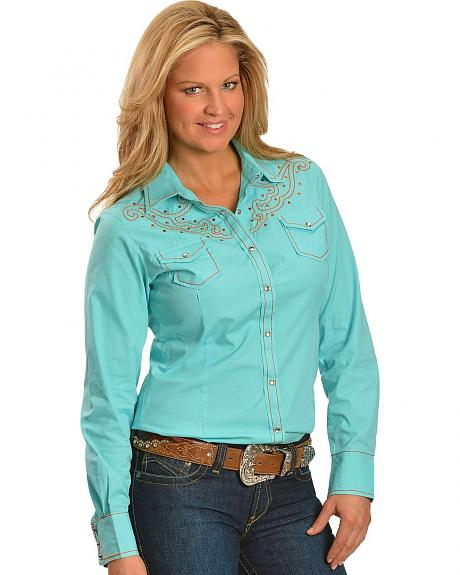 Ariat Shelby Embroidered Rhinestone Yoke Long Sleeve Top