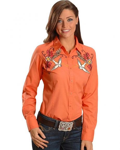 Ariat Solid Cantina Embroidered Long Sleeve Top