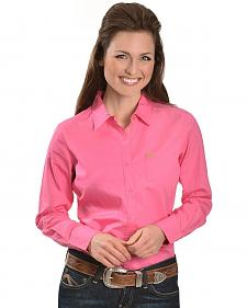 Ariat Pink Poplin Shirt