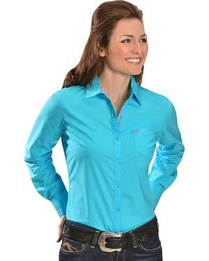 Ariat Turquoise Poplin Shirt