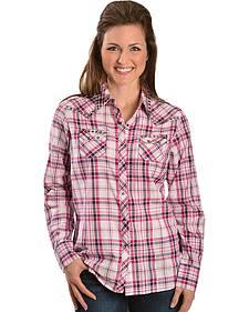 Ariat Evelyn Plaid Lurex Studded Western Shirt