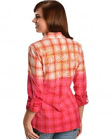 Ariat Maxine Dip Dyed Plaid Shirt
