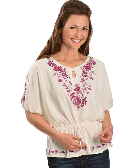 Ariat Floral Embroidered Tunic