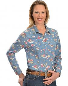 Red Ranch Floral Print Western Shirt