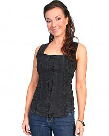 Scully Peruvian Cotton Laced Tank Top