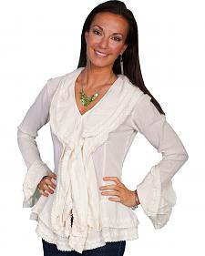 Scully Ruffle Front Long Sleeve Top