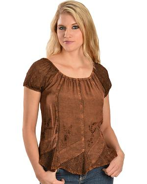 Scully Peasant Style Top