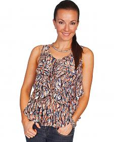 Scully Feather Print Tank Top