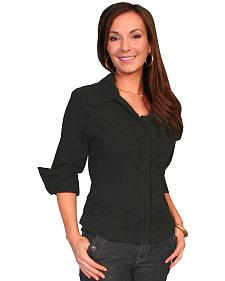 Scully 3/4 Length Sleeve Peruvian Cotton Top