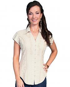 Scully Cap Sleeve Peruvian Cotton Top