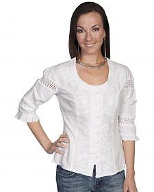 Scully 3/4 Length Sleeve Soutache Top