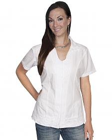 Scully Button Front Short Sleeve Top